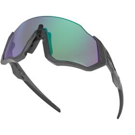 Oakley Flight Jacket Sunglasses Women matte steel/prizm road jade